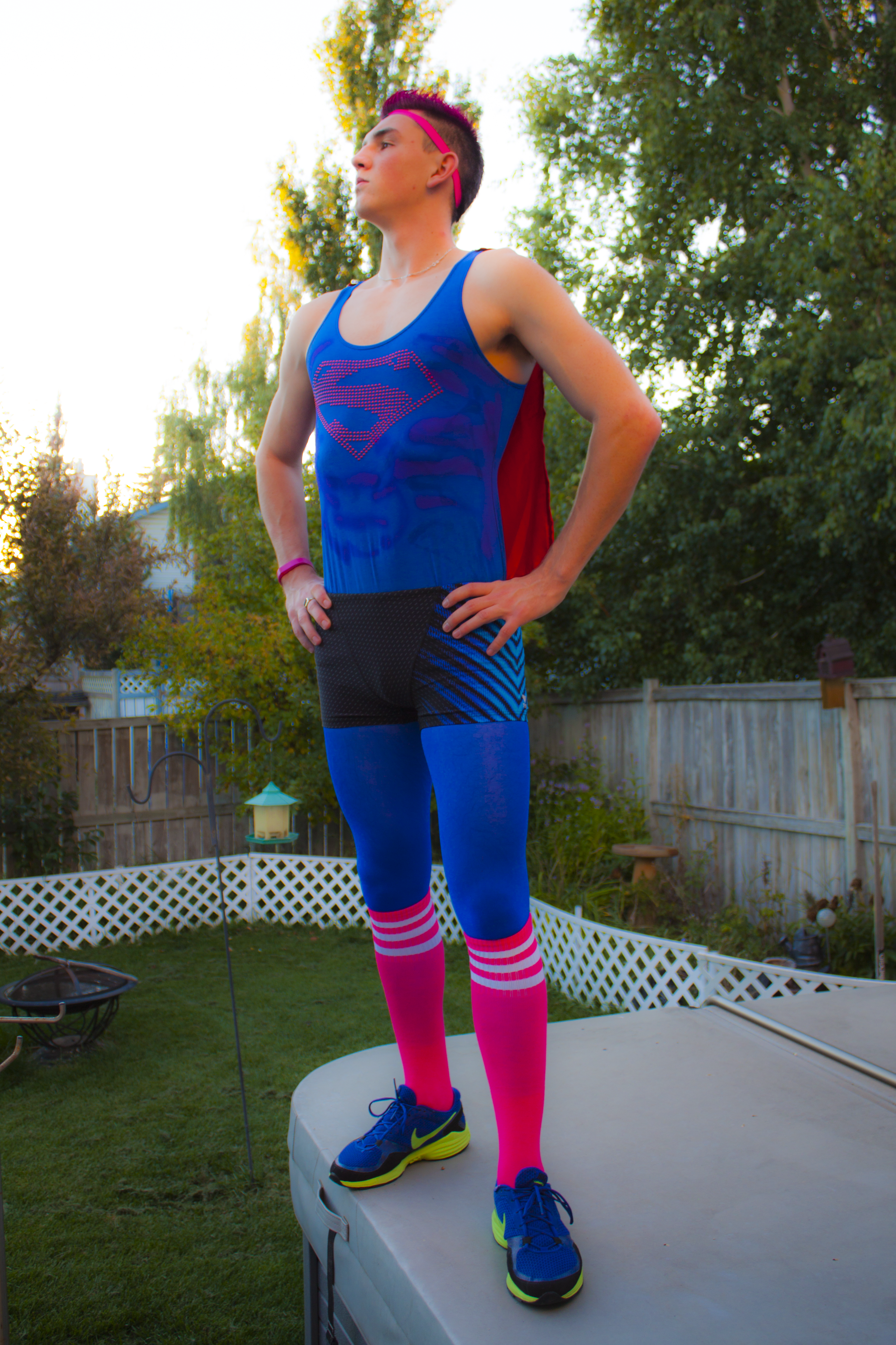 Bright & Tight Superman Outfit