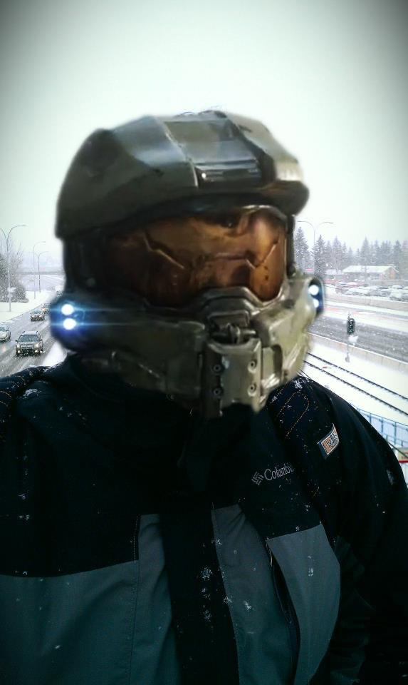 Landon w/ Master Chief Helmet